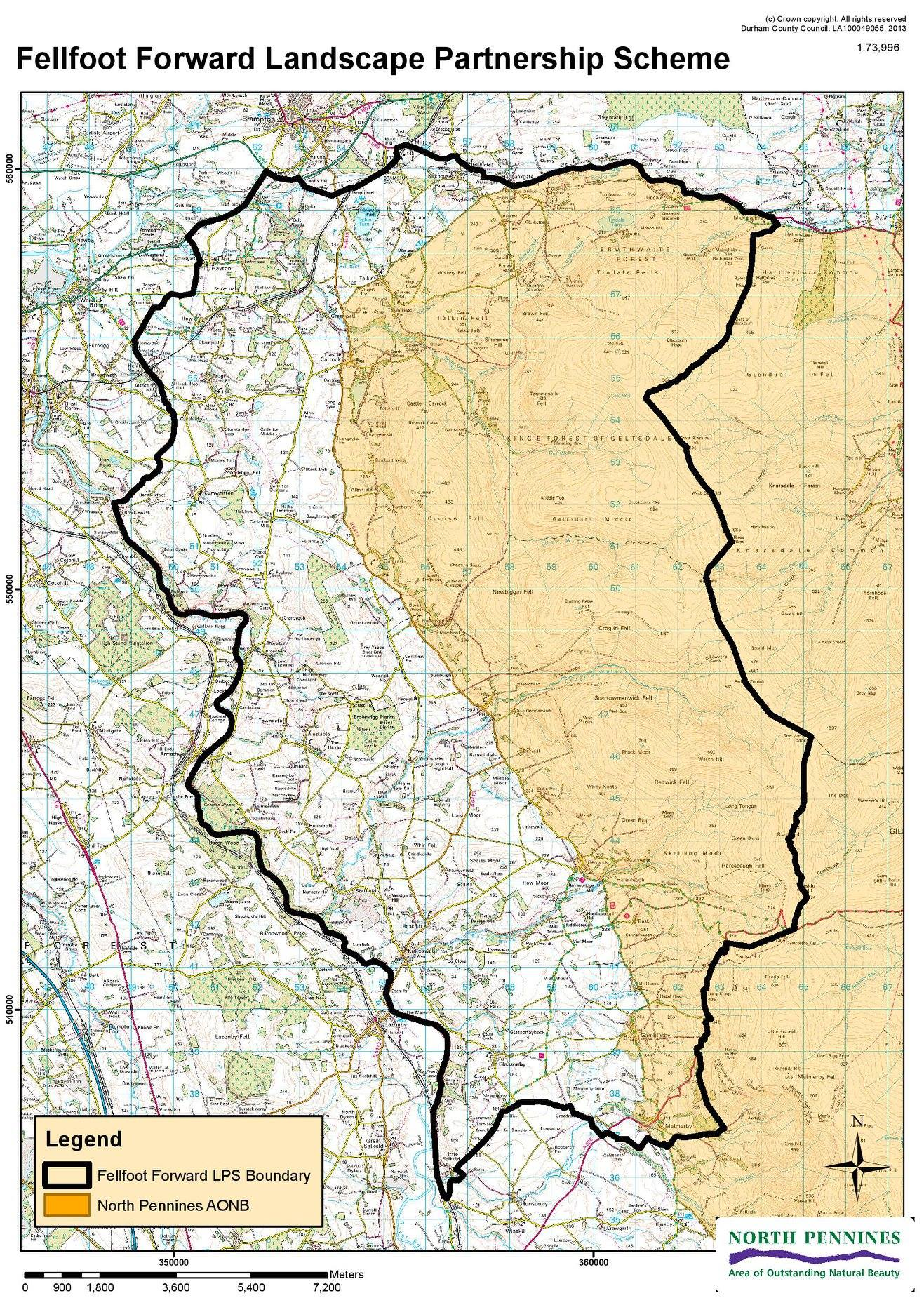 Map outlining the Fellfoot Forward area