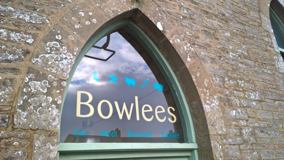 Bowlees Visitor Centre window