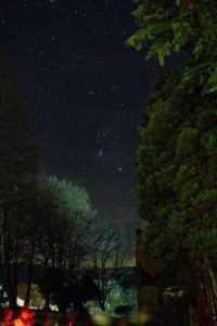 The constellation of Orion seen from Cowshill at a stargazing event with students from Whitley Bay High School © Andy Gray