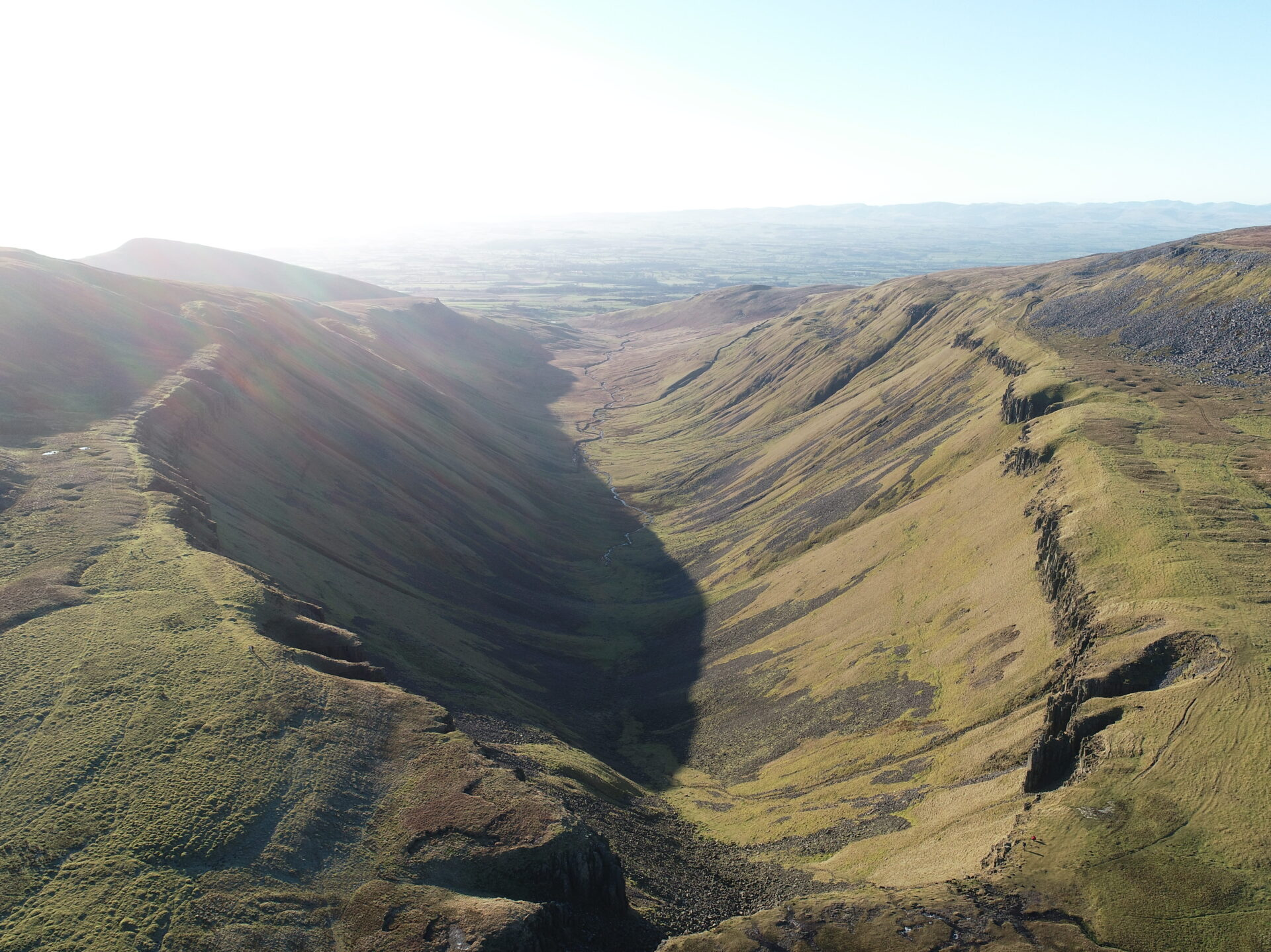 High Cup Nick in Cumbria from the air
