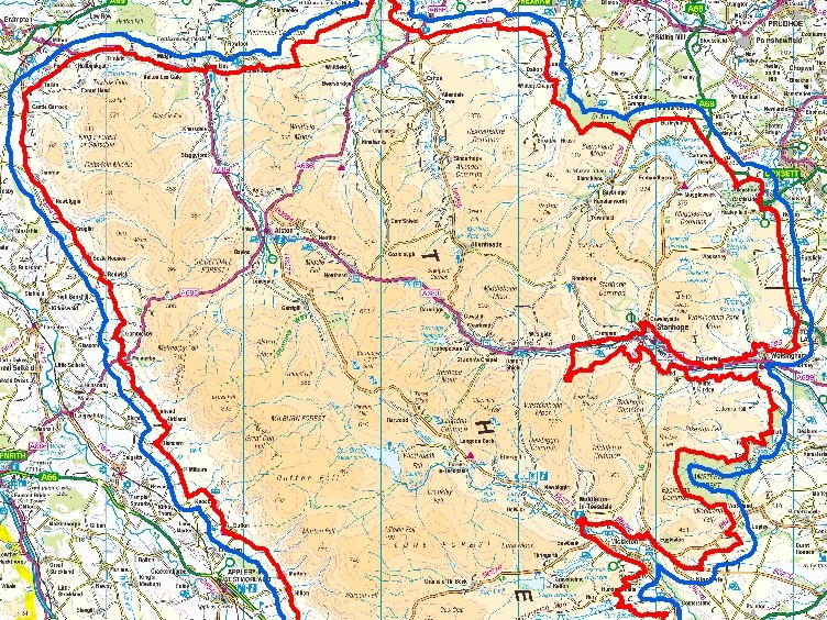 AONB 1km map image