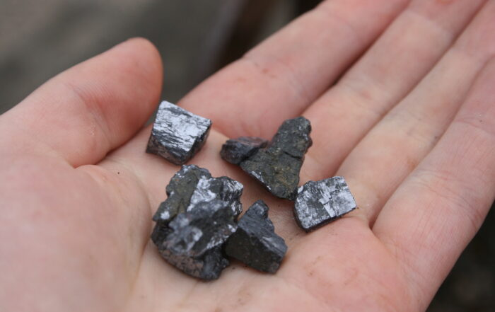 Small pieces of galena
