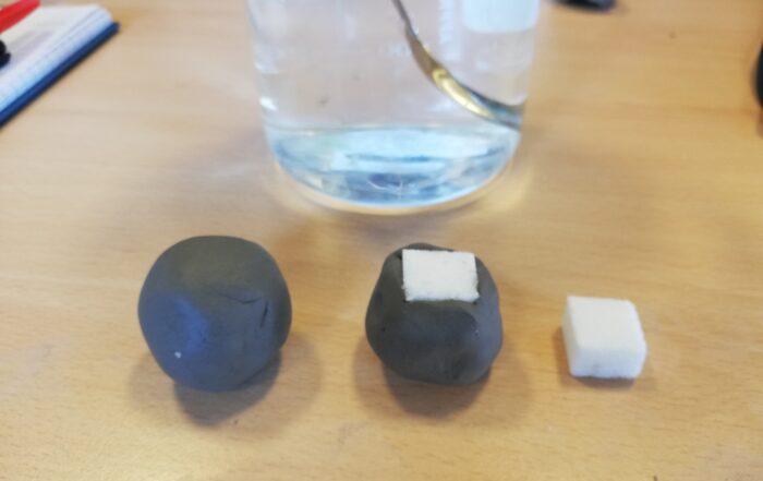 Sugar cubes before