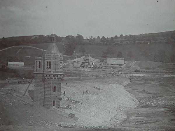 Image at Castle Carrock Reservoir of tower