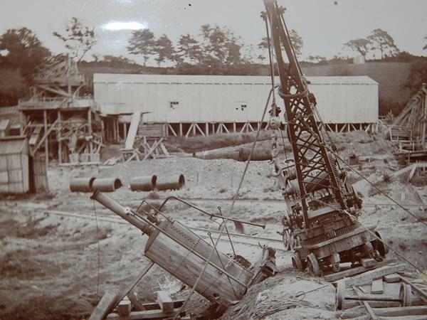 Photo of crane at building of Castle Carrock reservoir