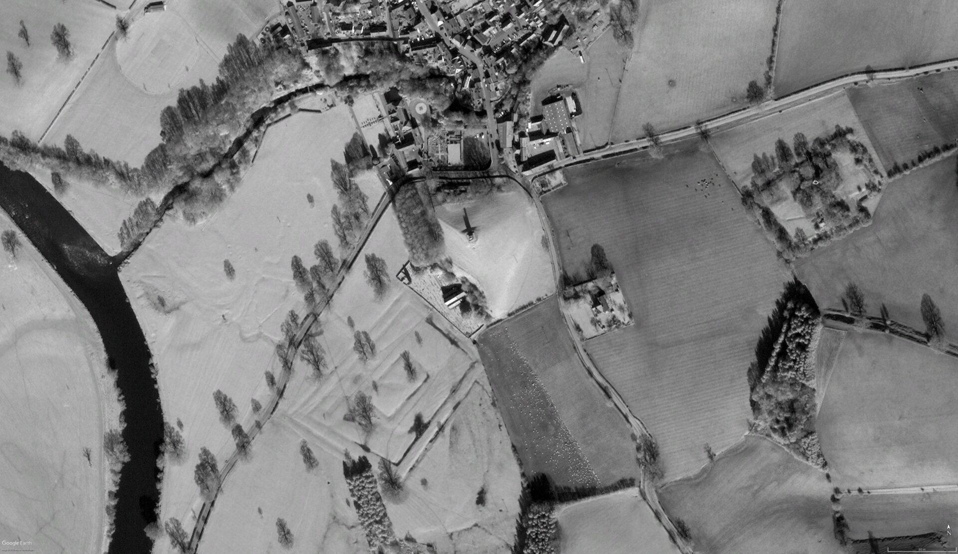 Aerial image of Kirkoswald