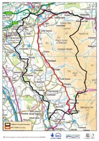 Map of area of Cumbria covered by Fellfoot Forward scheme