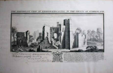 Picture of old drawing of Kirkoswald Castle