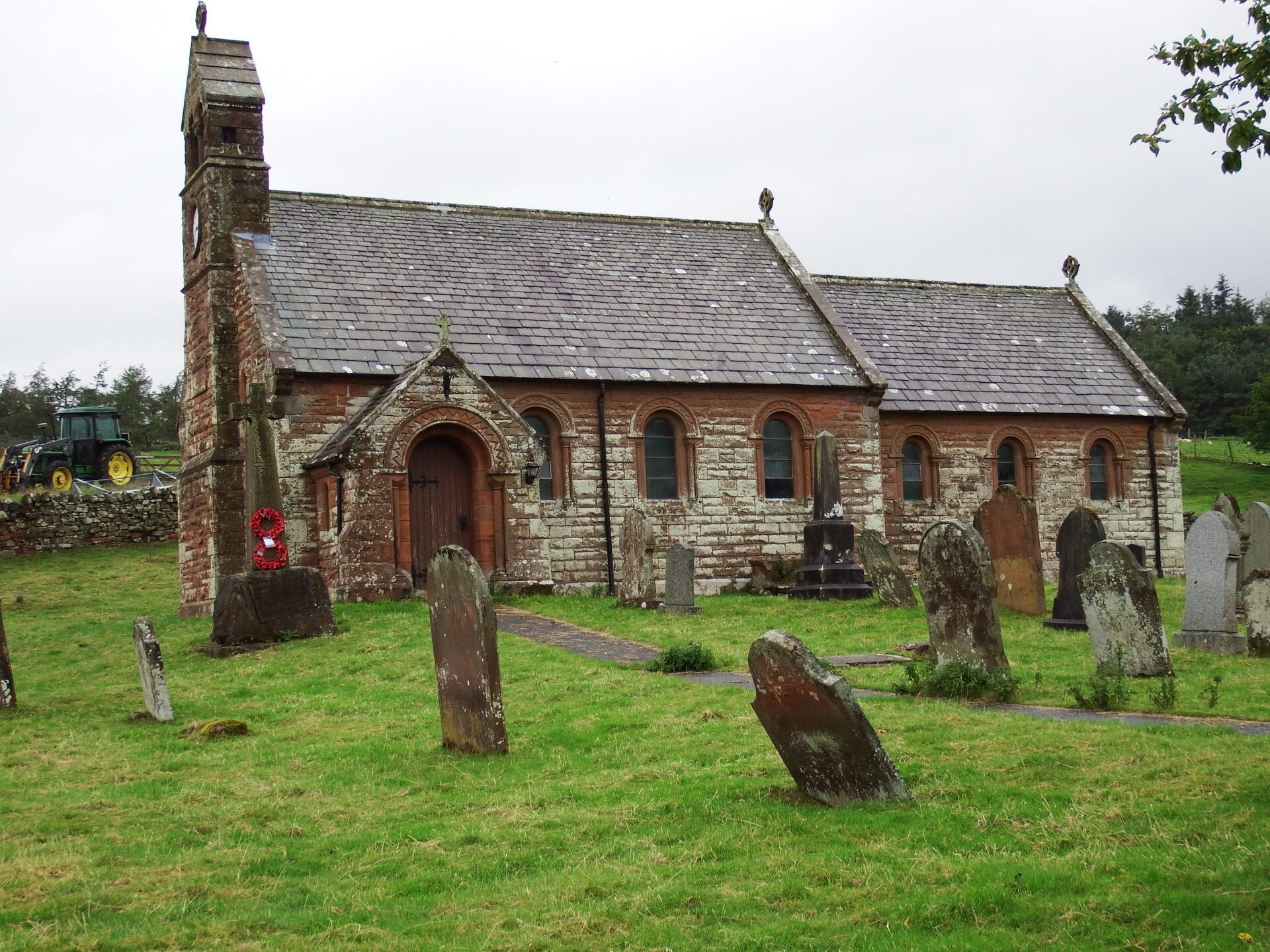 Photo of Croglin church and graveyard