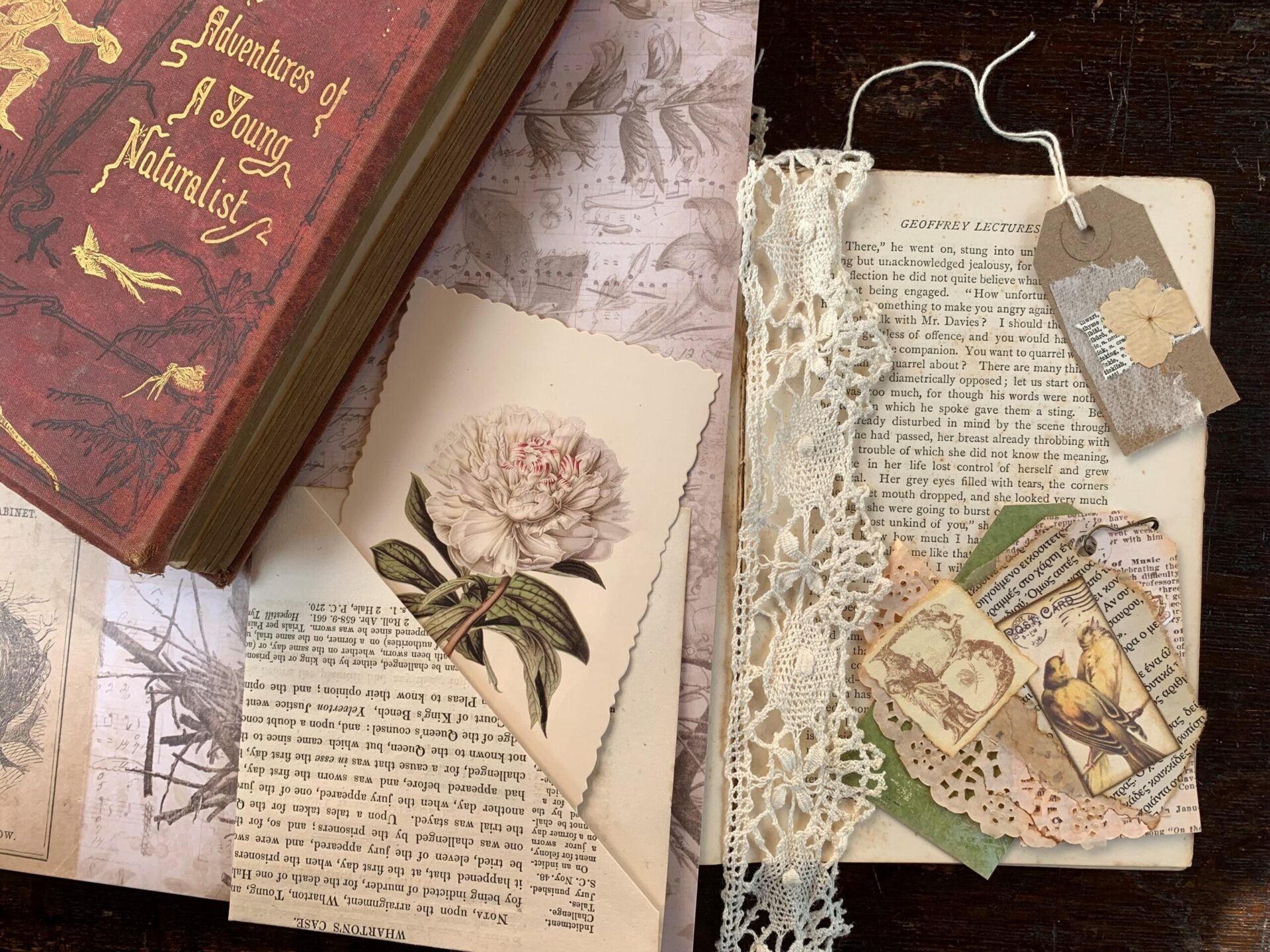 Image of journals, cards, notebooks